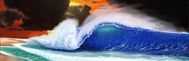 Surf Art & Surfboard Wall Art by Kem McNair